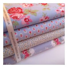 Option 11 & 25 - 4 Fat quarters includes one Floral Cath Kidston Rosali Ikea (Top Piece). Option 12 & 23 - 5 Fat Quarters - 1 Cath Kidston Ivory Rosali by ikea, others incl. Option - 6 piece fat quarter bundle, includes Cath Kidston Ivory Rosali by ikea. Cath Kidston Rose, Pip Studio, Fabric Strips, Fat Quarters, Cotton Fabric, Fabrics, Sewing Ideas, Cover, Countryside