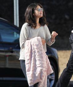 "January 21: Selena on the set of ""The Revised Fundamentals of Caregiving"" in Atlanta, Georgia. Fan of Selena Gomez"