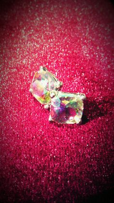 Rainbow Gem Stud Earrings by CoutureRendezvous on Etsy, $34.99