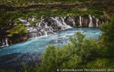 Barnafoss, Iceland: more waterfall than a wide-angle lens can take in