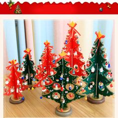 Cheap christmas decorations, Buy Quality home christmas decorations directly from China christmas decoration red Suppliers: 2017 S/M/L Mini Cute Cartoon Wooden Crafts Christmas Tree Ornament Table Desk Xmas Hanging Home Christmas Decoration Red/Green