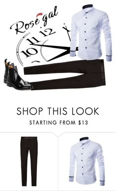 """""""Rosegal long sleeve shirt 2"""" by zancica ❤ liked on Polyvore featuring Dolce&Gabbana, Loake, men's fashion and menswear"""