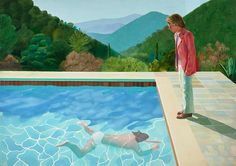 When the British artist David Hockney arrived in LA in he fell in love. The city – and its swimming pools – would become his greatest subject, writes Alastair Sooke. Portrait of an Artist (Pool with Two Figures) (Credit: David Hockney) David Hockney Pool, David Hockney Tate, David Hockney Portraits, David Hockney Paintings, Jasper Johns, Jeff Koons, Arte Pop, Pool Paint, Illustration Arte