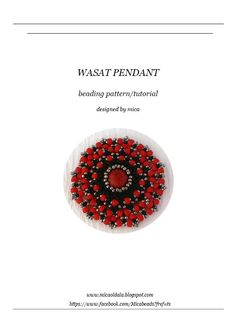 Wasat Pendant - Beading Pattern/Tutorial - PDF file for personal use only by micabead on Etsy https://www.etsy.com/listing/111053289/wasat-pendant-beading-patterntutorial