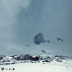 Reykjavik Invasion - Eve Online by Sig Vicious, via Behance