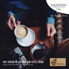 It's International World #CoffeeDay. Time to raise a toast to the beverage that stimulates creativity and conversation! And Amanvana makes it own coffee from the estate. Try it sometime. Its divine. And goes really well with a book.