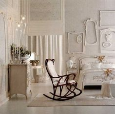 Wait ... an Art Nouveau rocking chair? ! Interior Decorating Ideas Influenced by Design Style Modern