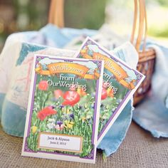 Wildflower Seed Favors // SayBre Photography // Favors: American Meadows // http://www.theknot.com/weddings/album/a-garden-charm-wedding-in-lilburn-ga-133437