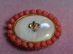 Golden Fleur di Lis Mother of Pearl and by Jewelry4Reenactors, $49.00