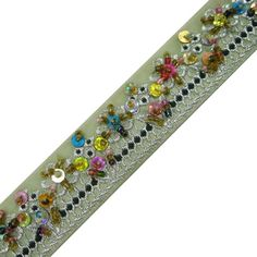 Beige Sequin & Beaded Ribbon Trim Supplies 1 by Indianbeautifulart