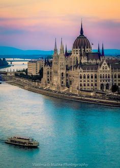 The cities Buda and Pest on two sides of the River Danube comprise the twin city, Budapest (in Hungary) Places Around The World, Oh The Places You'll Go, Travel Around The World, Places To Travel, Places To Visit, Around The Worlds, Wonderful Places, Beautiful Places, Beautiful Sunset