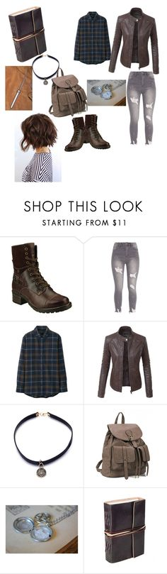 """""""A Hunters Closet~"""" by drop-of-hysteria ❤ liked on Polyvore featuring taos Footwear, Uniqlo and LE3NO"""