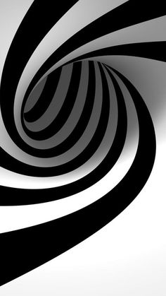 3D Black And White Swirl #iPhone #6 #plus #wallpaper