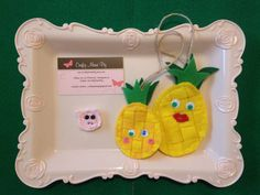 Pineapple Family Hanging Egg Ornaments - Felt Daddy Mommy & Me ornament Set - as Bag tags or Name tag or Keychain or Garland for home decor - perfect Mother's Day gift for mother and son or daughter - mommy & me gifts idea - Etsy shop https://www.etsy.com/listing/519315985/pineapple-family-hanging-egg-ornaments