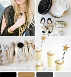 Party Palette | Black + Gold! http://www.theperfectpalette.com/2013/08/party-palette-black-gold.html