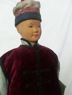 DOOR-OF-HOPE-DOLL-Young-Boy-in-Costume. Correctly dressed, though legs damaged, could probably wrap and find shoes for later. Jan., 2015. $215, Early group of dolls always together, (#1).