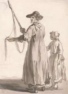c. 1759 - Paul Sandby - London Cries- A Lace Seller