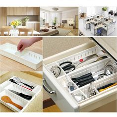 Plastic Storage Box Cosmetic Organizer Adjustable Desk Drawer Closet Divider FFA | Home & Garden, Household Supplies & Cleaning, Home Organization | eBay!