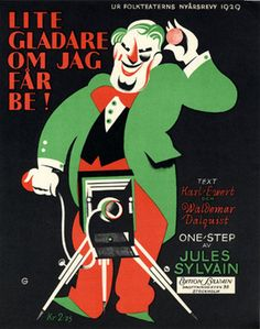 Illustrated Sheet Music by N. G. Granath, 1929, 'Lite Gladare om Jag Far Be !'. (Sweden)