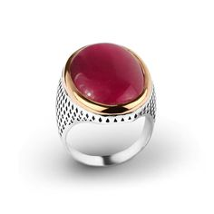 925K Sterling Silver Elegant Man Ring With Natural Agate 29.00$