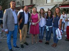 On May 31, 2017, Hereditary Grand Duke Guillaume and Hereditary Grand Duchess Stéphanie attended a reception at the Piazza della Liberta in San Marino.