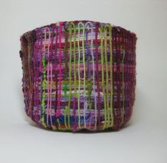 Claire Crompton: 'composite fabric' (2011).  Materials: waste knitting yarns. Part of 'Waste Baskets' series