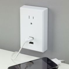 Turn your regular #outlet into a #USB friendly charging station! Charge multiple #gadgets at once so you're prepared for class and meetings.