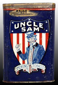Antique Tins   Pocket Tins Uncle Sam Tin – Antique Tobacco Tins & Collectibles