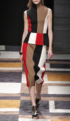 Intarsia patchwork skirt by SALVATORE FERRAGAMO Preorder Now on Moda Operandi