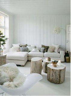 Scandinavian Winter Home. Boomstamtafeltjes binnenkort bij ons verkrijgbaar. | www.teleukhout.nl