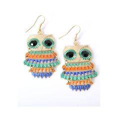 Owl Hook Earrings