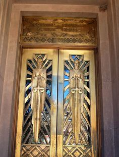 Art Deco Doors with <3 from JDzigner www.jdzigner.com