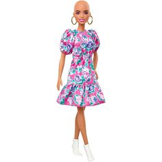 Mattel Barbie, Barbie Shop, Barbie Dress, Barbie Doll, Barbie Style, Girl Hair Colors, Hair Colours, Barbie Fashionista Dolls, Pink Floral Dress