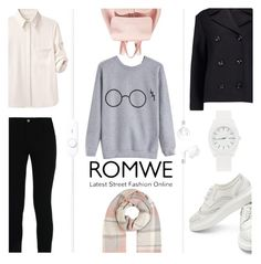 """""""In a Sweat: Romwe Contest Entry"""" by lamemechose ❤ liked on Polyvore featuring STELLA McCARTNEY, Mansur Gavriel, Accessorize, Nixon, rag & bone, Totême, romwe and contestentry"""
