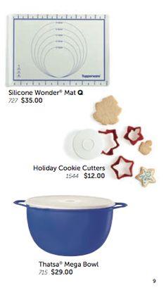 "Tupperware Silicone Silicon Baking Wonder Mat Blue Jr ~12/"" x 9/""~ New"