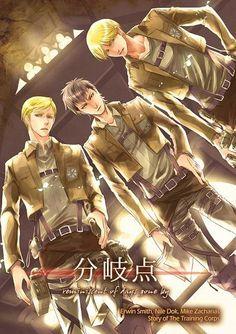 Attack on Titan Regular Doujinshi, Erwin, Nile, Mike, NEW!! Bunkiten, Shingeki