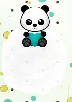 Cute Panda Wallpaper, Heart Wallpaper, Panda Birthday, Panda Party, Panda Wallpapers, Baby Groot, Halloween Make, Panda Bear, Diy Party