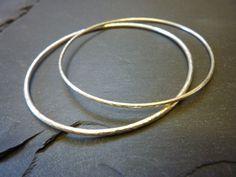 Sterling silver hammered bangles