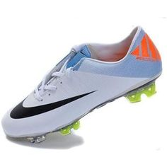 http://www.asneakers4u.com Discount Nike Mercurial Vapor SuperFly III FG SoccerFootball Cleats In White Black Orangeout of stock