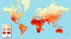 Solar Radiation Map of the Earth