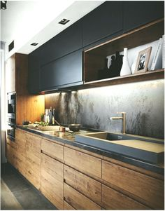If you are looking for Minimalist Kitchen Design Ideas, You come to the right place. Below are the Minimalist Kitchen Design Ideas. Kitchen Room Design, Kitchen Cabinet Design, Home Decor Kitchen, Kitchen Layout, Interior Design Kitchen, Kitchen Ideas, Kitchen Designs, Kitchen Inspiration, Diy Kitchen