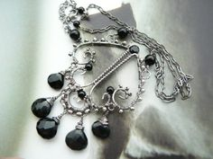 Jethro - sterling silver and black onyx gemstone necklace