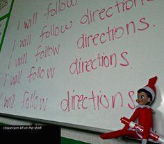 elf on a shelf classroom ideas | Elf on the Shelf ideas in a classroom | Teacher&Teaching Stuffs :)