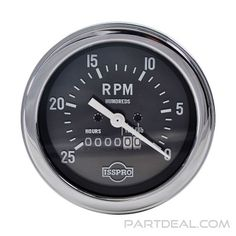ISSPRO - Mechanical Tachometer Gauge, 0-2500 RPM, Chrome - RTH89 Gauges, How To Look Better, Chrome, Ears Piercing, Plugs