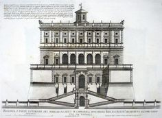 Giovanni Battista Falda, Façade of the noble palace of Caprarola..., ca. 1655