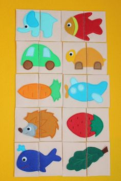 Adorable!- small puzzles for quiet book
