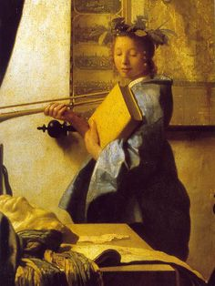"Detail From ""The Artist's By Jan Vermeer Van Delft- Kunsthistorisches Museum-Vienna Johannes Vermeer, Delft, Caravaggio, Rembrandt, Vermeer Paintings, Baroque Painting, Dutch Golden Age, Dutch Painters, Dutch Artists"