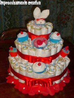 Improvvisamente...creativa!: Torta di pannolini