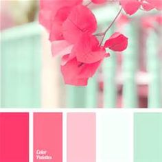 For a baby nursery, kitchen, girls room. bright, fresh mint color should be complemented with shades of crimson to create an original color combination. Use these colors when decorating - Color Palette Ideas Colour Pallete, Colour Schemes, Color Combos, Color Palettes, Paint Schemes, Paint Combinations, Green Palette, Design Seeds, Color Balance