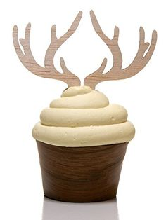 I will make these with the cricut and send you pictures so you can choose an antler design-Decorative Cupcake Topper Antlers for Standard and Large Cupcakes (Set of 12) Alder House Market http://www.amazon.com/dp/B00S5YG87W/ref=cm_sw_r_pi_dp_rFE3vb1KC7ET6
